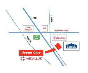 Medallus Layton Location Map
