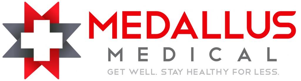 Medallus Medical Logo Tagline White
